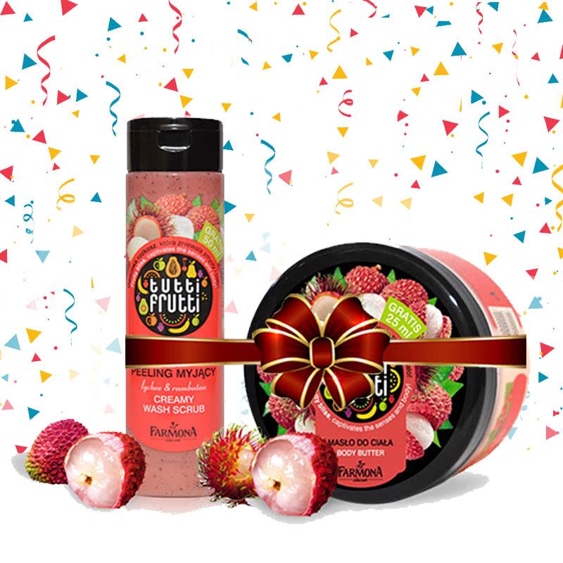 Tutti Frutti (Lychee & Rambutan Body Butter 275 ml + Lychee & Rambutan Creamy Wash Scrub 250 ml)
