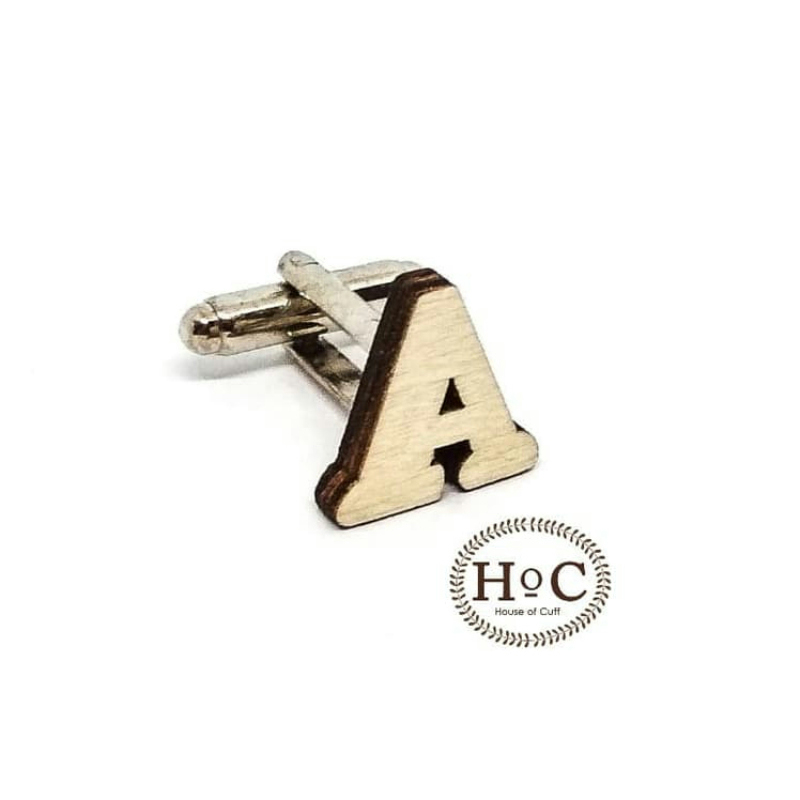 House Of Cuff Cufflinks Kancing Manset Alphabet Inisial Wedding Cufflinks