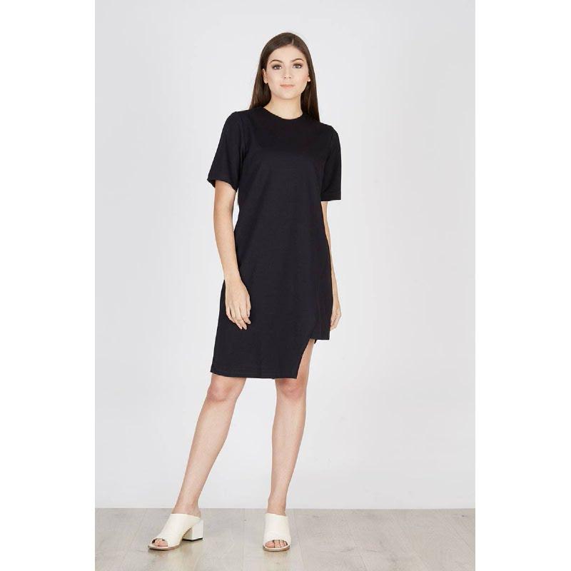 Pia Asymetris Dress Black