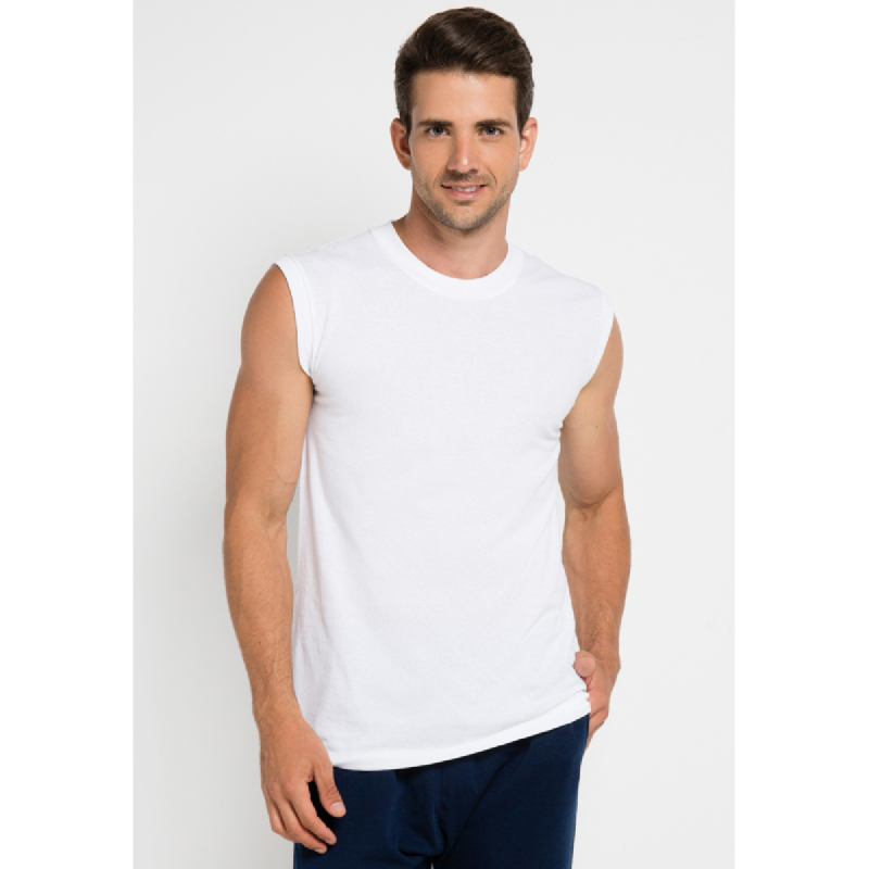 Gunze Men Tshirt Sleeveless GD198 White