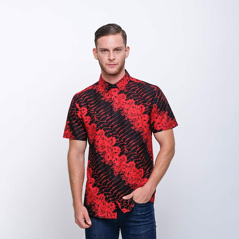 Arthesian Basudewa Batik Printing Red Black