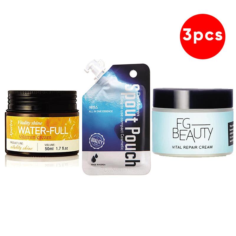 Aperire Vitality Shine Waterful Vitamin C Cream 50 G + Dermeiren Super Aqua All In One Essence 15 G + FG Beauty Vital Repair Cream 50 Ml
