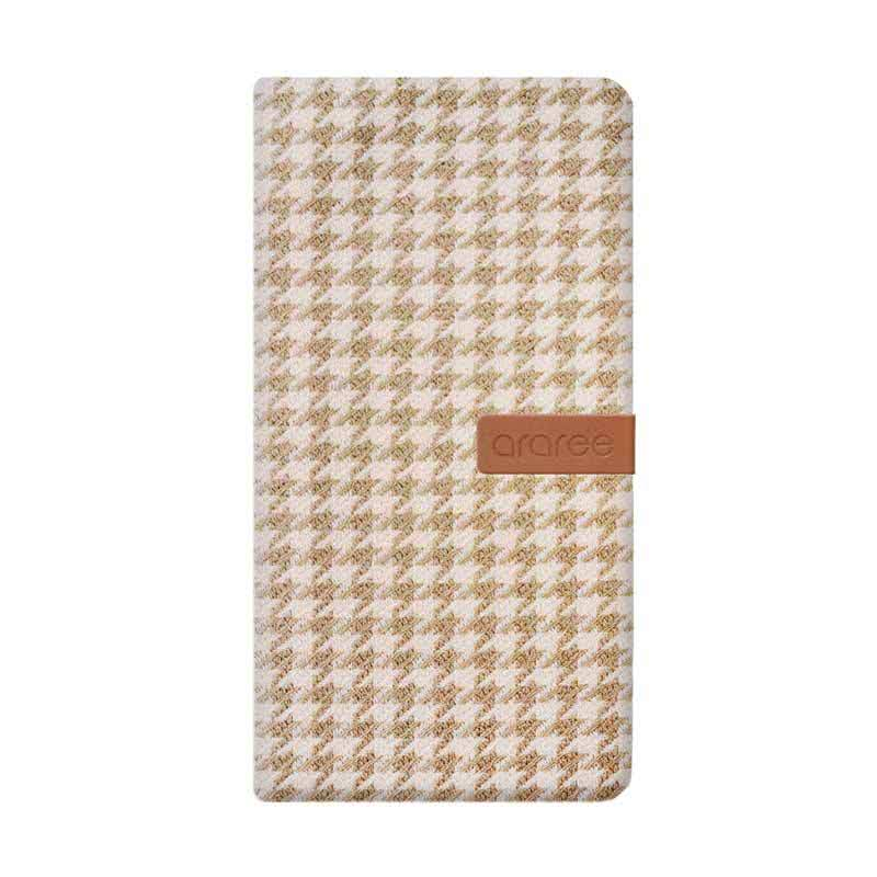 Hybrid Neat Diary for iphone 5-5s Beige houndstooth