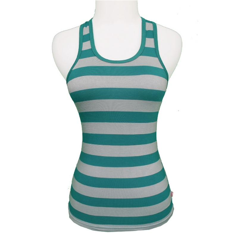 Gudang Fashion Tanktop Kaos Wanita - Green TNP 104