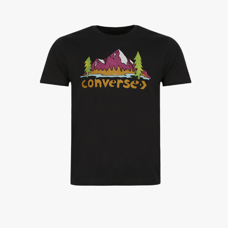 Converse Illustrated Mountain Club Men T-shirt Black