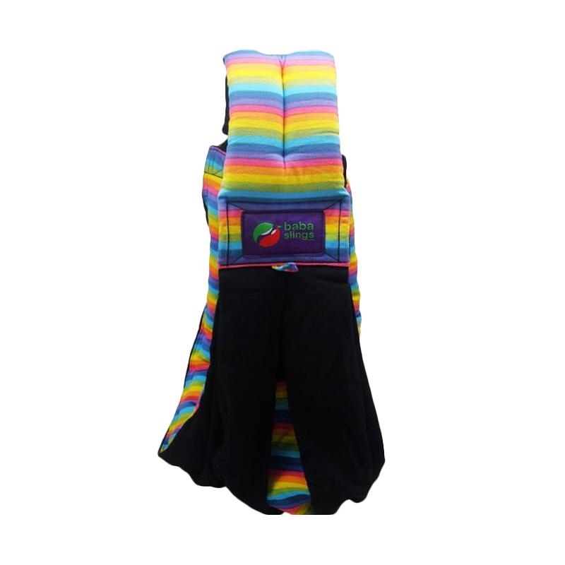 Baba Slings Stripe Gendongan Bayi - Black Rainbow