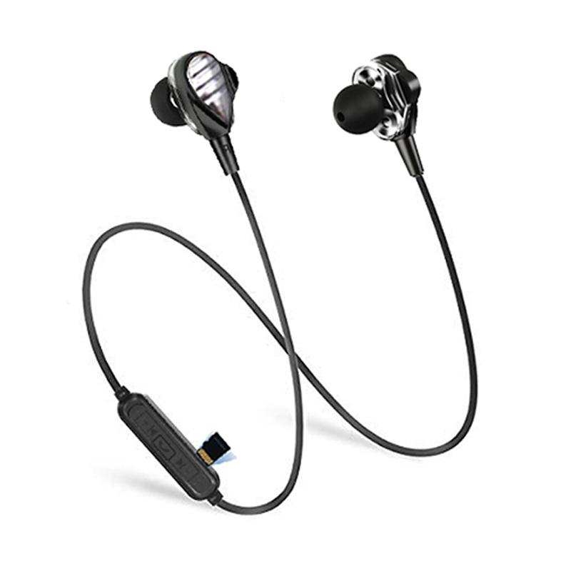 d-power SoundproTF Dual Driver Bluetooth Headset with MicroSD Slot