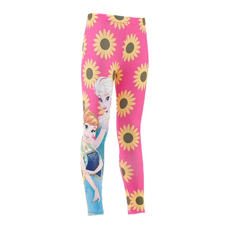 Frozen Long Pants Flower Kids Pink