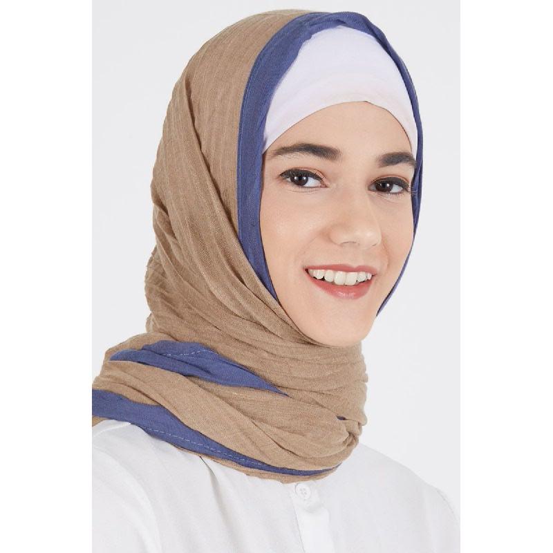 Daiba Pashmina Plain Brown