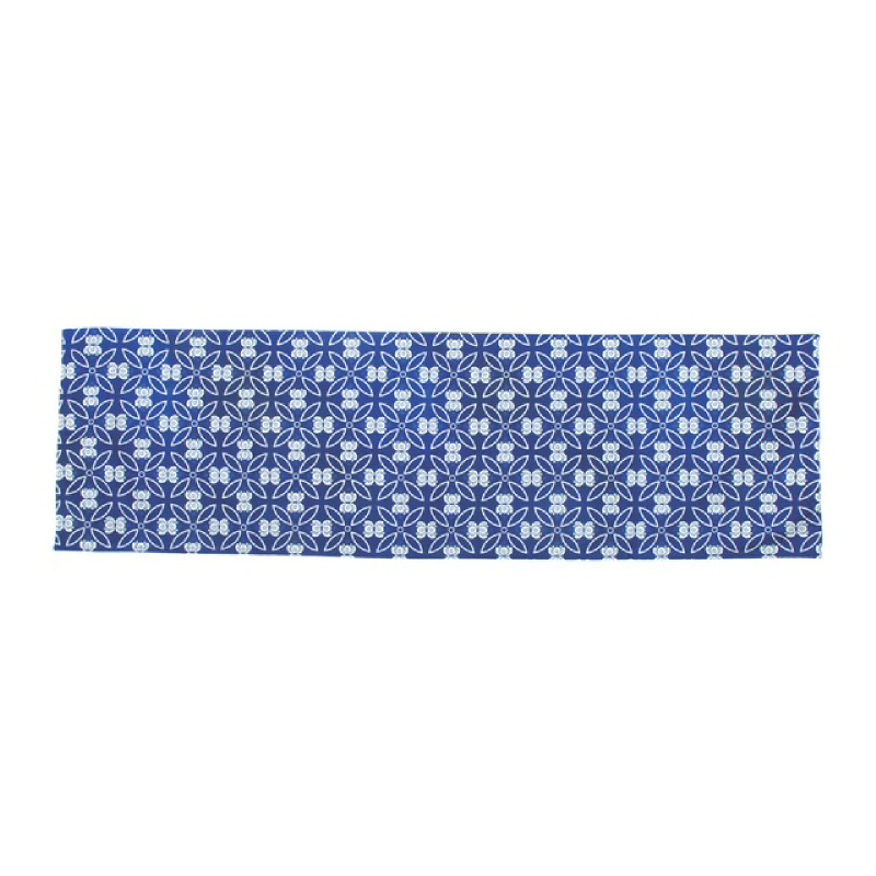 Dew Blue Taplak Meja - Biru & Putih 30x200cm