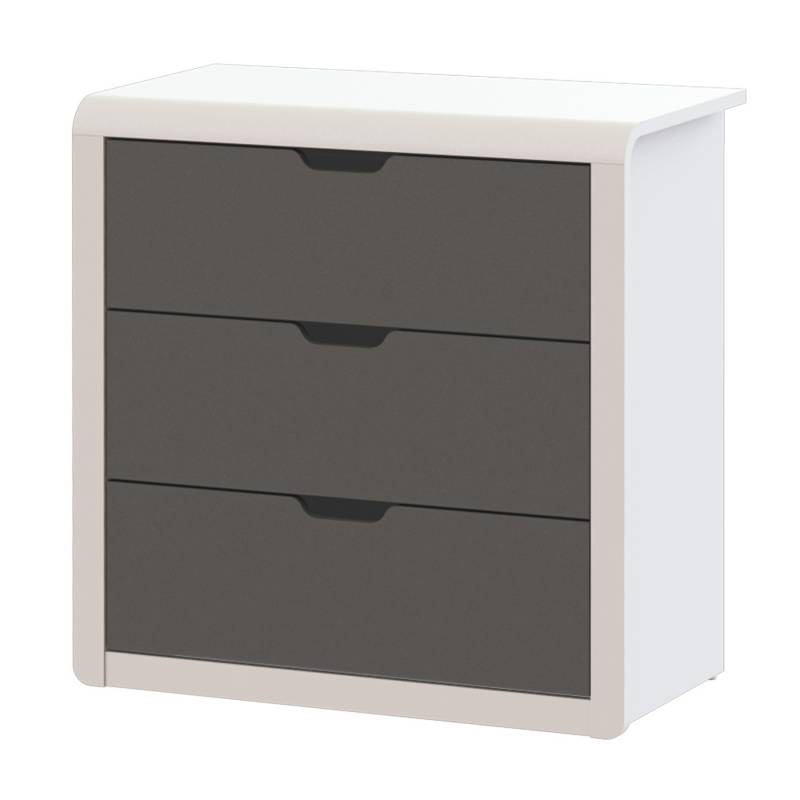 JYSK Chest 3 Drawers Aastrup 77X39X78Cm Grey White