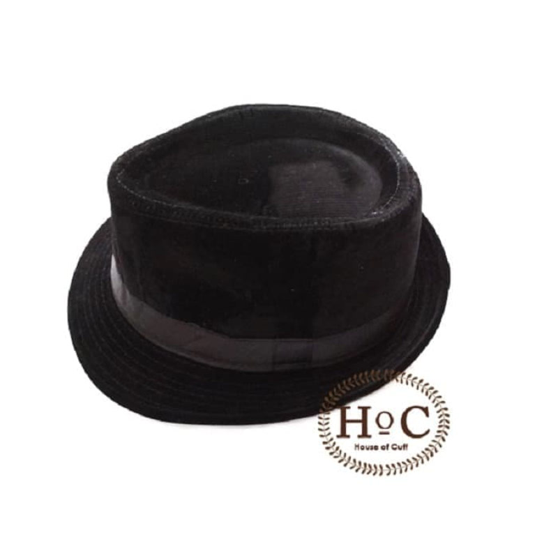 House Of Cuff Topi Fedora Hat Black Fedora Hat Corduroy