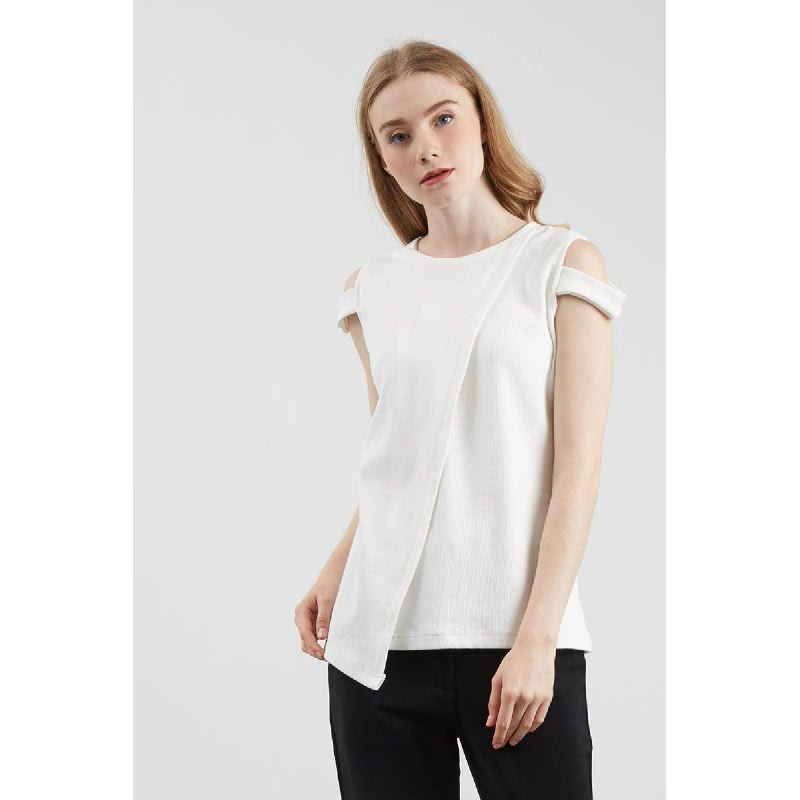 Tamara Asymetrical Blouse White
