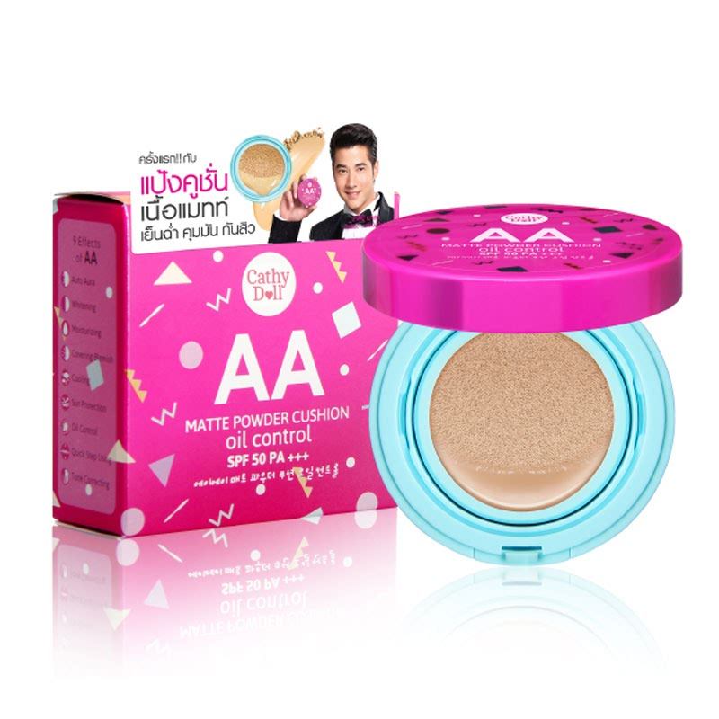 Cathy Doll AA Matte Powder Cushion Oil Control SPF50 - 21Light Beige