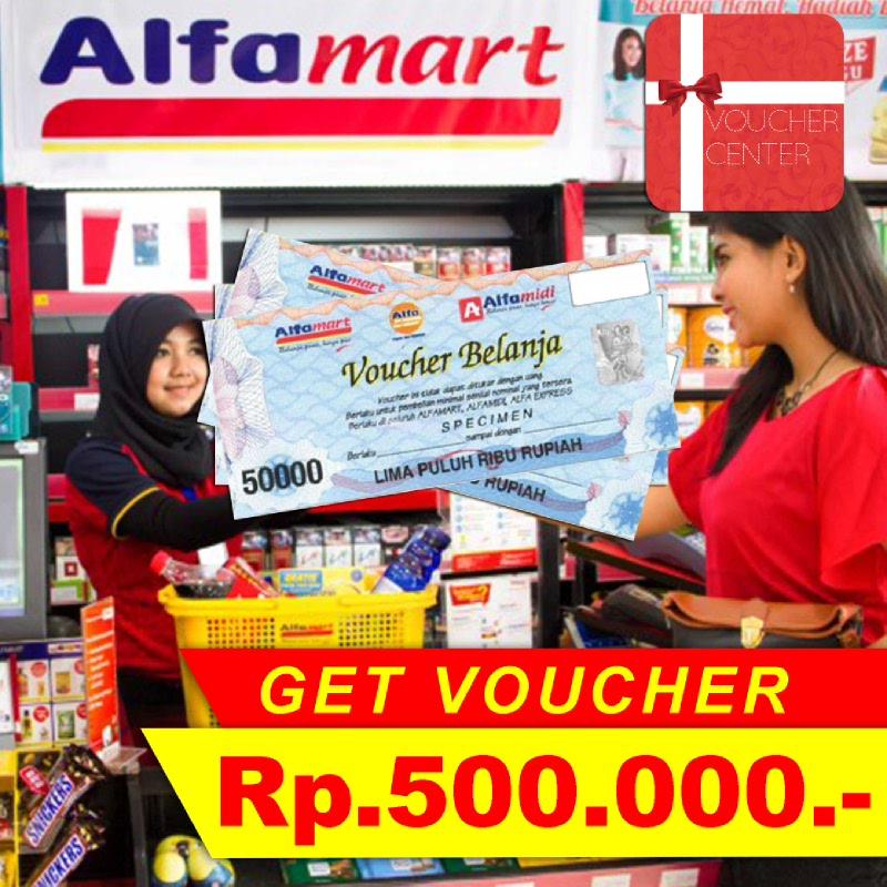 Alfamart Voucher Senilai Rp 500.000