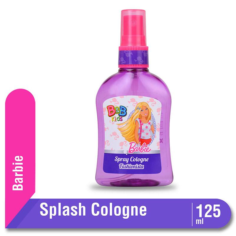 B&B Kids Barbie Spray Cologne Fashionista Botol 125 Ml