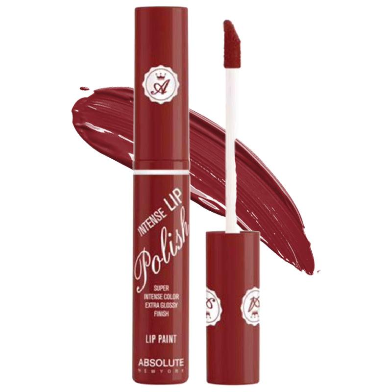 Absolute New York Intense Lip Polish Lip Paint Deep Red