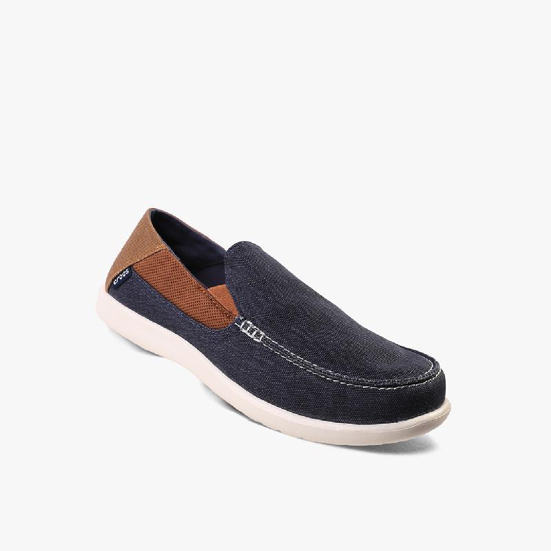 Crocs Santa Cruz 2 Lux Loafer Men's Shoes Navy