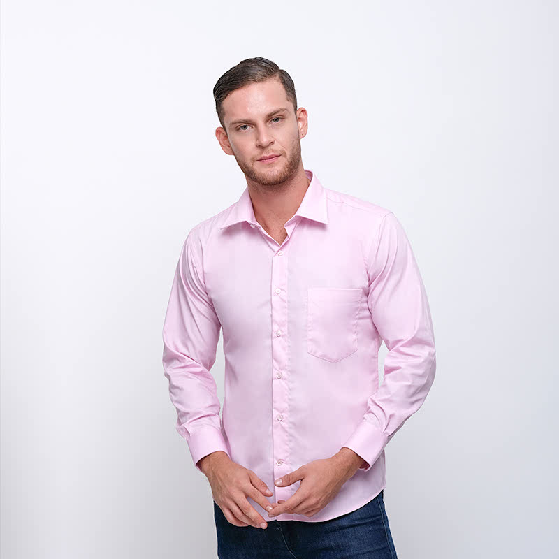 Gianni Visentin Slim Shirt Merah Muda