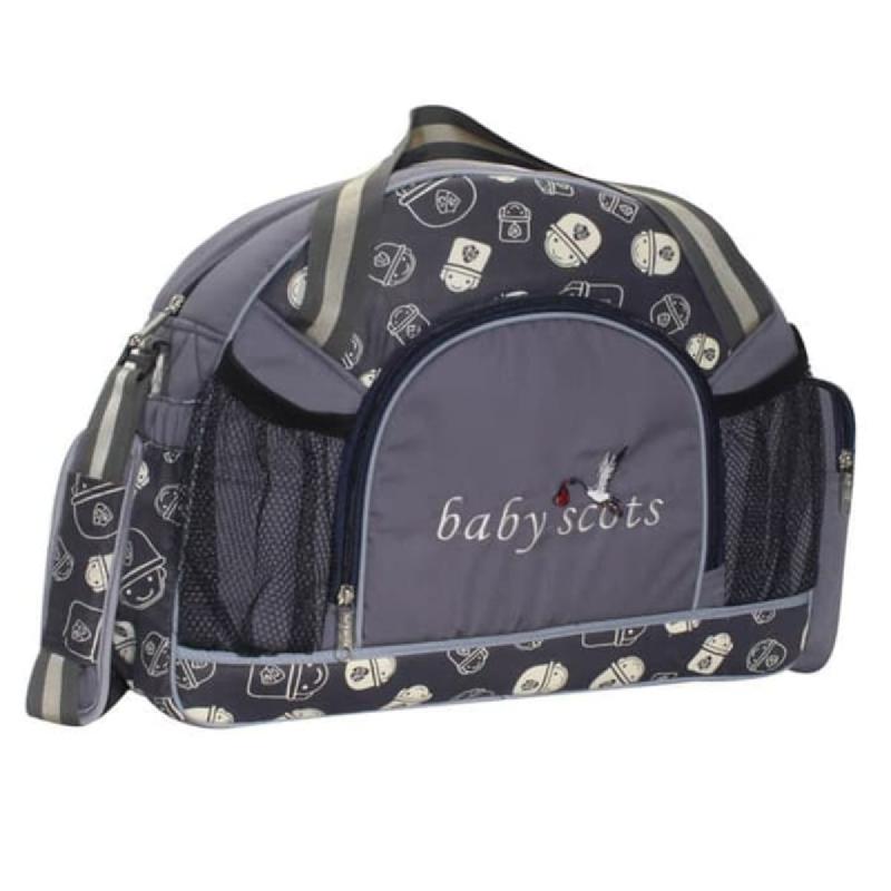 Baby Scots  Diapers bag print character+alumunium foil BST1302 Abu abu