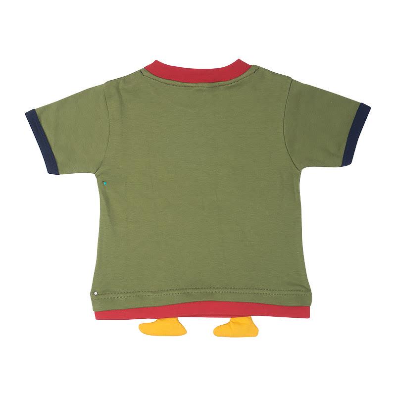 Baby Boy Rawr Tee & Short Pant Set Army Green