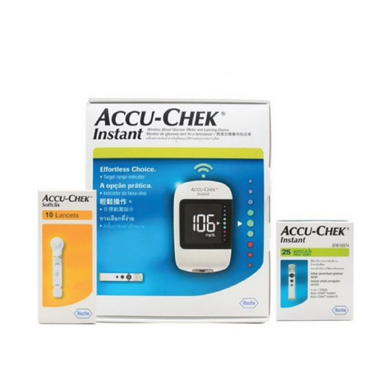 Accu-Chek Instant New Family Pack + Strip 25'S