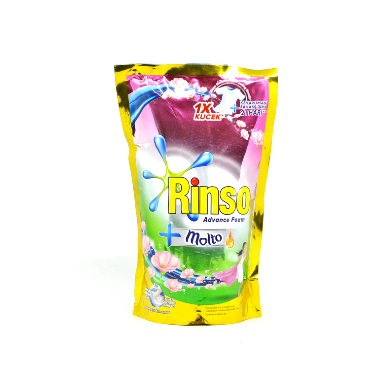 Rinso Molto Detergent Cair Konsentrat Pouch 750 Ml