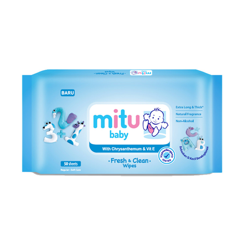 Mitu Baby Soft Care Tissue Blue 50 Sheet