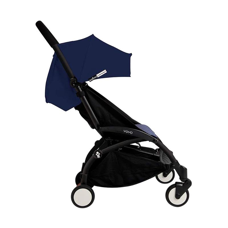 Babyzen Yoyo Stroller + Frame Black New Born Kereta Dorong Bayi [6+] Air France Blue