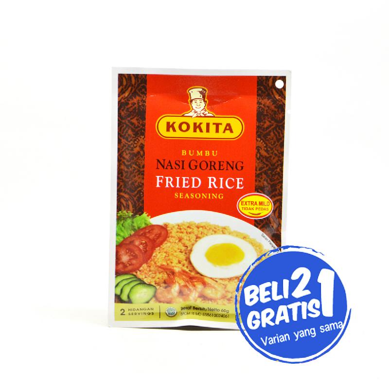 Kokita Bumbu Nasi Goreng Extra Mild 60 Gr (Buy 2 Get 1)