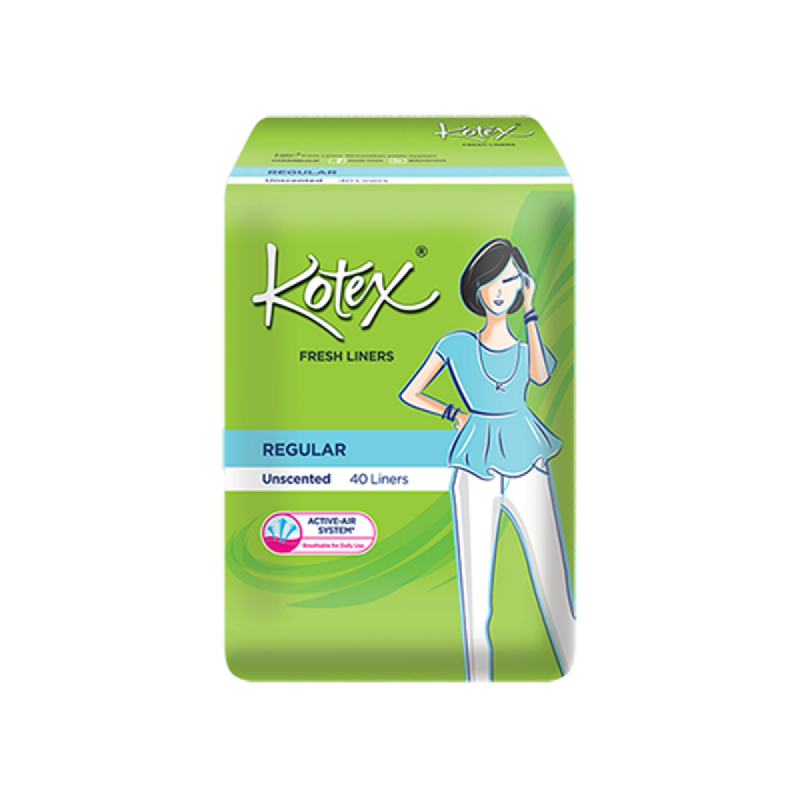 Kotex Fresh Unscented 40 Sheet