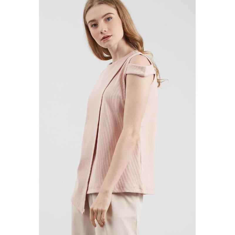Tamara Asymetrical Blouse Pink