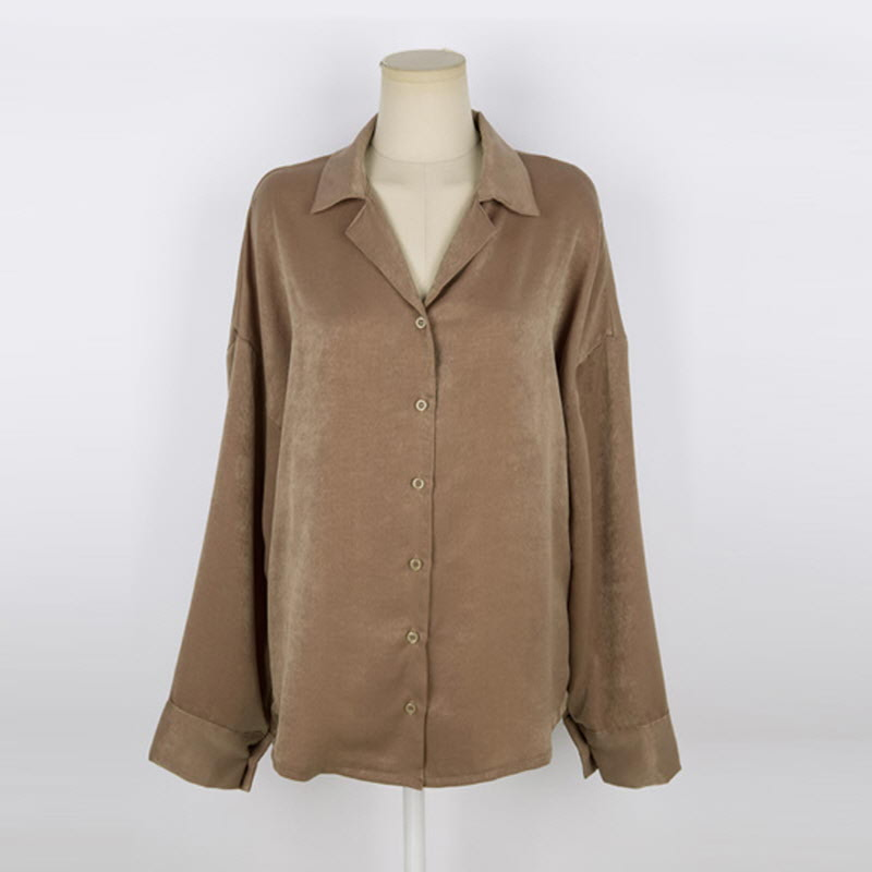 Silky Ring Blouse BEIGE