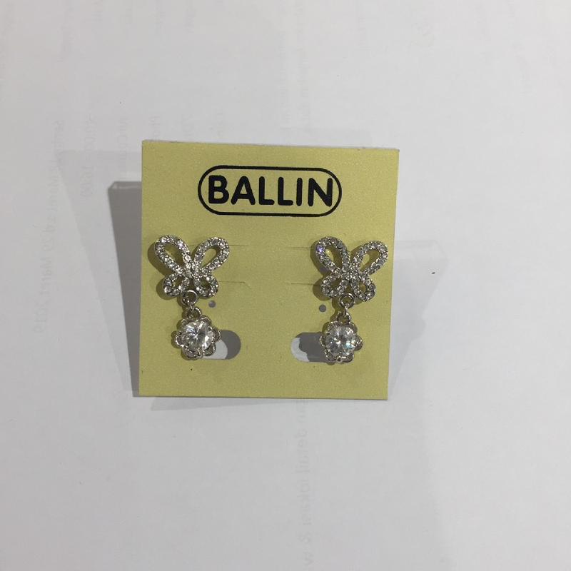 Ballin Women Earing Butterfly YZ-E734S Silver