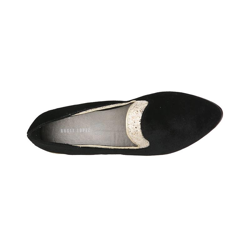 Black & Gold Loafer