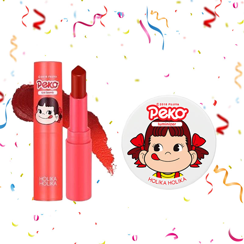 Holika Holika Peko Water Drop Tint Bomb 03 Fig Water + Peko Milky Jelly Luminizer 6g
