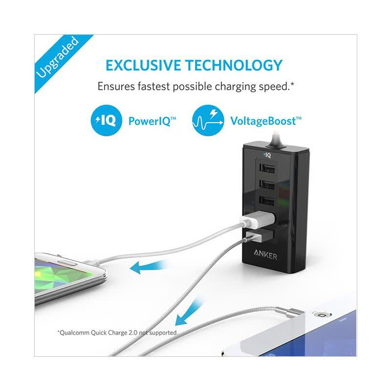 Anker Port Charger PowerDrive 5 A2311H12 - Hitam