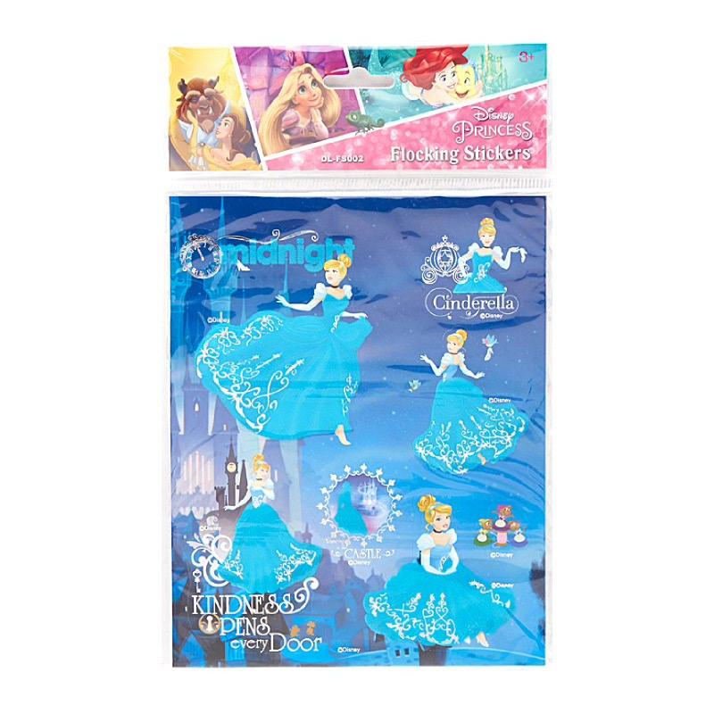 Princess 3D Flocking Stickers