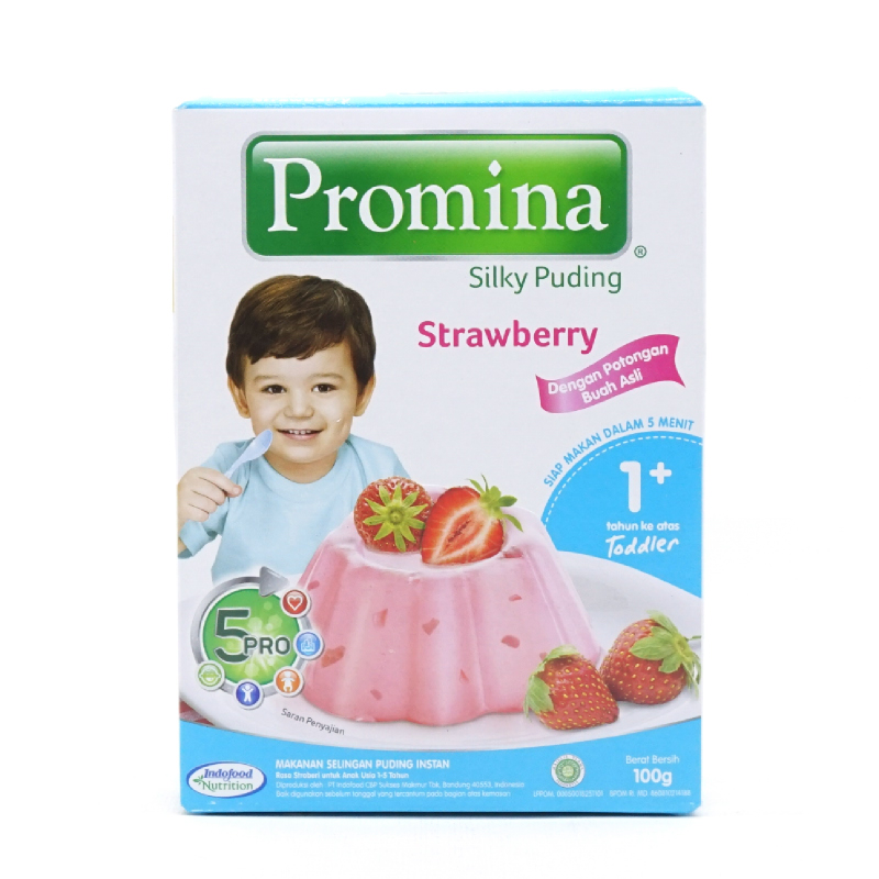 Promina Silky Puding Strawberry Box 100