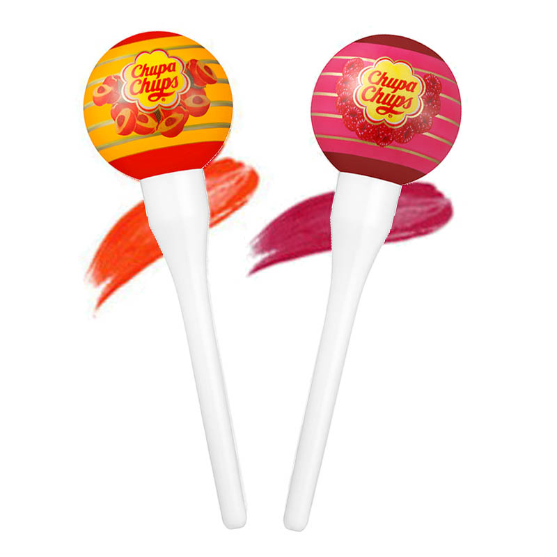 Chupa Chups Lip Locker Peach 7g + Raspberry 7g