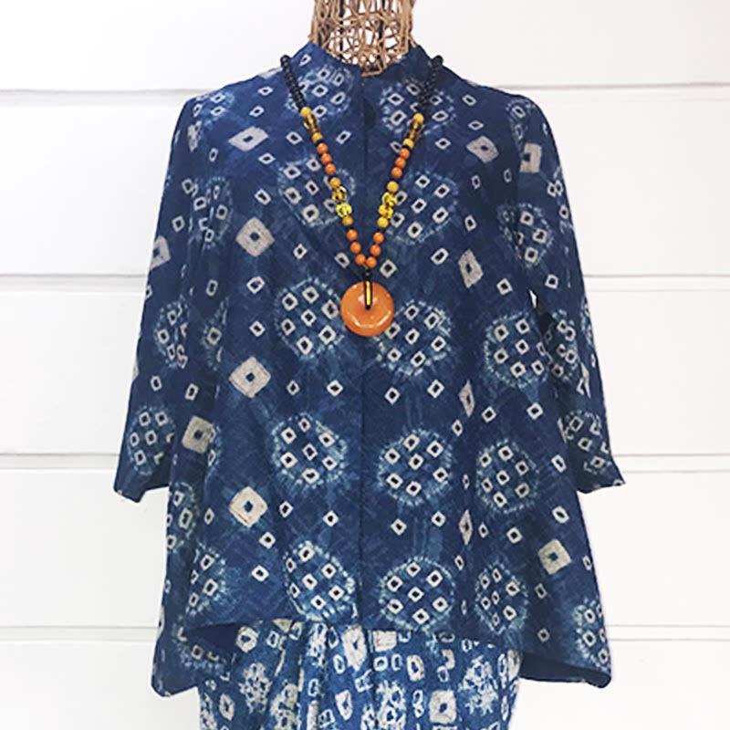 Batik Chic Blouse A Jumputan Biru
