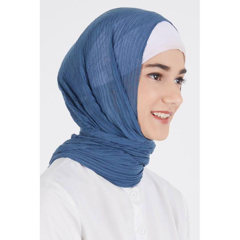 Darla Pashmina Plain Blue