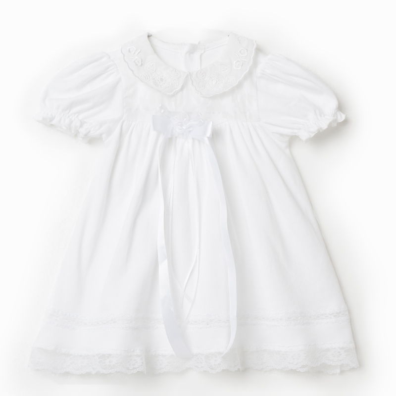 Baby Doll White Dress With Puff Sleeve