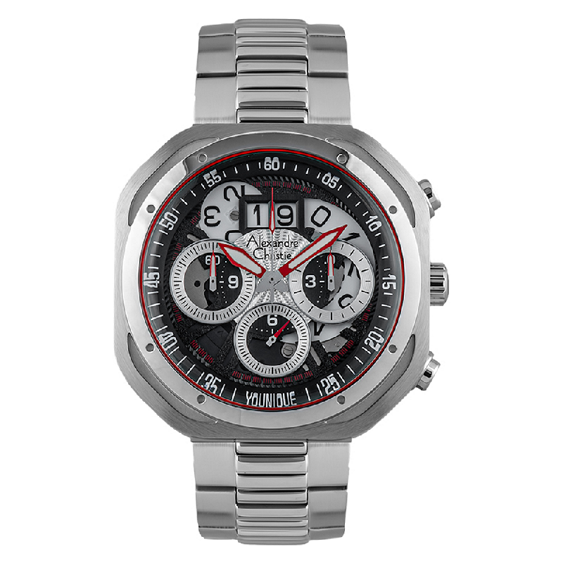 Alexandre Christie AC 6468 MC BSSBA Younique Man Chronograph Skeleton Dial Stainless Steel
