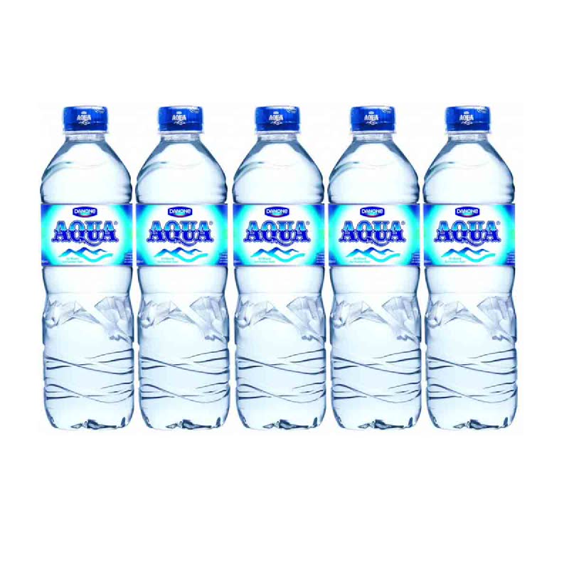 Aqua Mineral Water 600 Ml (Buy 4 Get 1)
