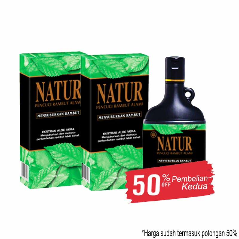 Natur Shampoo Menyuburkan Rambut 140 Ml (Get 2)