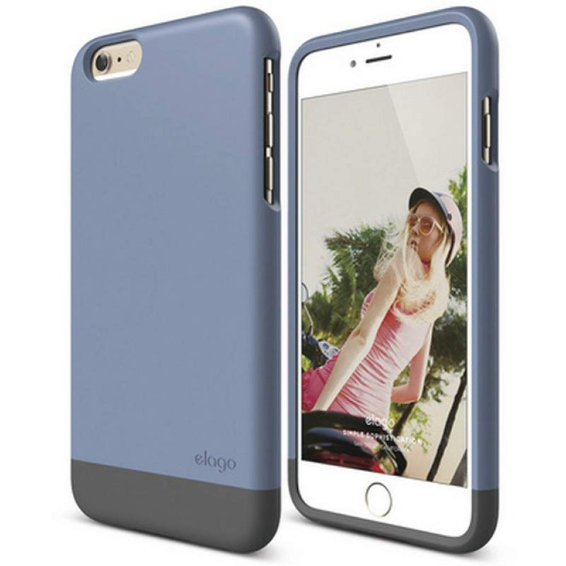 Elago Glide Case for iPhone 6 Plus - SF Royal Blue + SF Dark Gray
