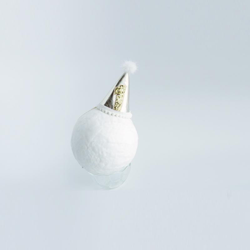 Baby Sequoia Birthday Hat Gold