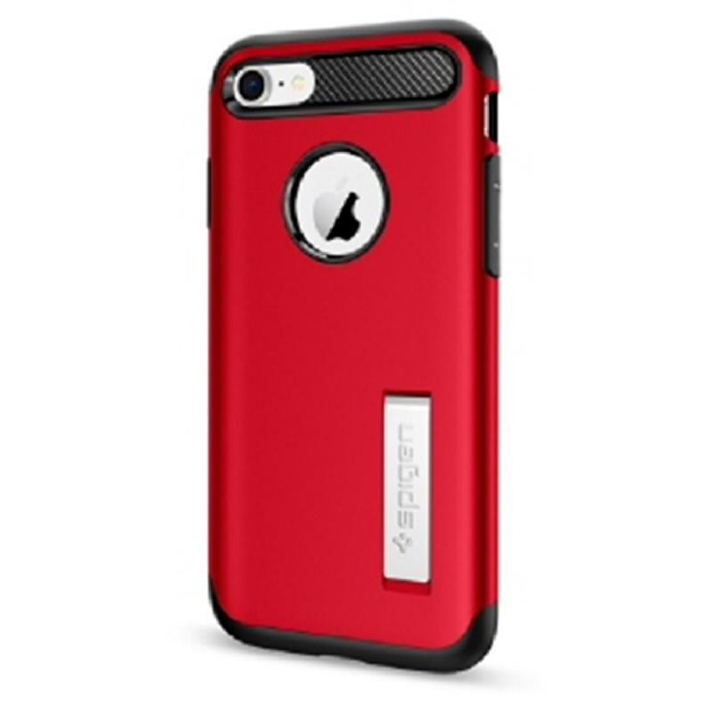 Spigen iPhone 7, 8 Case Slim Amor - Crimson Red