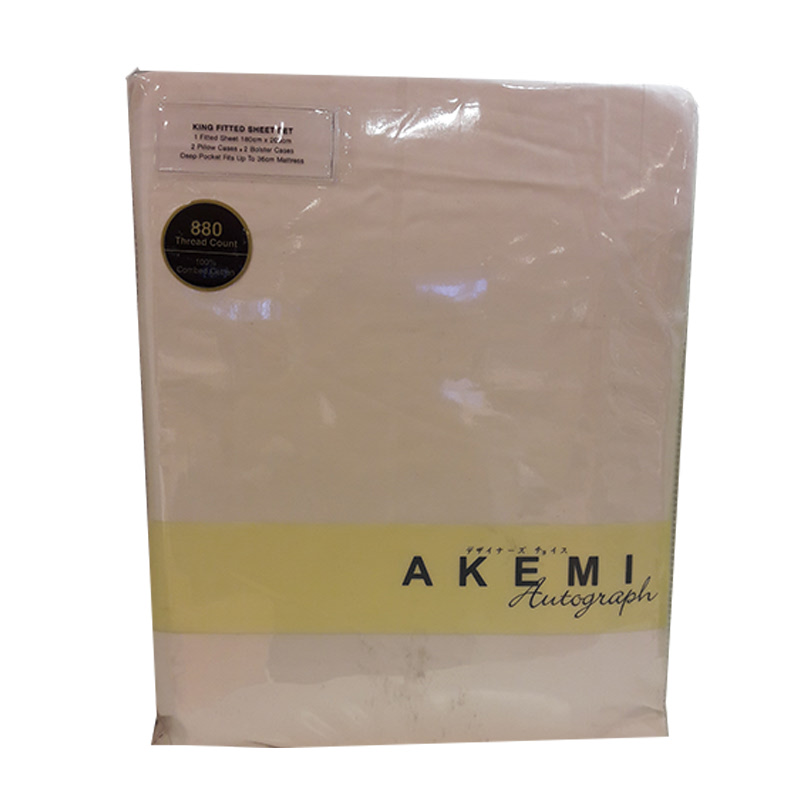 Akemi Autograph Leighton Collection QFS 160x200 LETTIC STRIPES WHITE